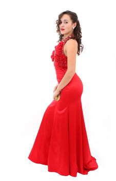 Free Beautiful Woman In Red Dress Stock Image - 17146011