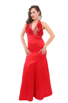 Free Beautiful Woman In Red Dress Stock Photos - 17146023