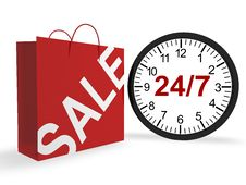 Free 24/7 Shopping Concept Stock Photo - 17146110
