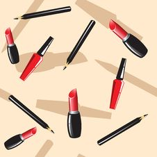 Free Background With Cosmetics Stock Images - 17146264