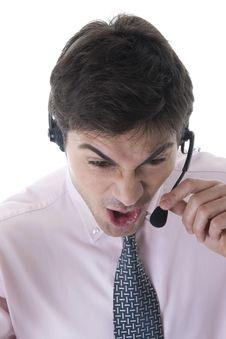 Free Angry Customer Service Representative Stock Image - 17146271