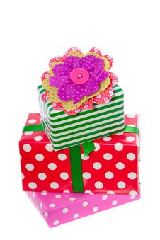 Free Pile Of Red Green And Pink Gifts Stock Images - 17146394