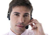 Free Confident Customer Service Representative Stock Photo - 17146470