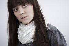 Free Portrait Of Lovely Teenager Girl Stock Image - 17146991