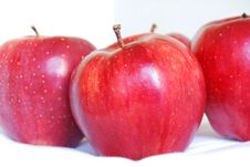 Free Red Apples Side View Stock Photo - 17147000