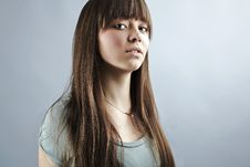 Free Portrait Of Lovely Teenager Girl Royalty Free Stock Photography - 17147087