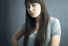 Free Portrait Of Lovely Teenager Girl Royalty Free Stock Photography - 17147167