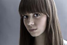 Free Portrait Of Lovely Teenager Girl Stock Image - 17147191