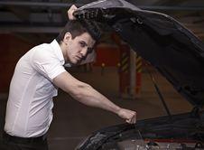 Free Young Man Car Mechanician Stock Photography - 17147222