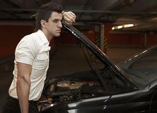 Free Young Man Car Mechanician Stock Photo - 17147230