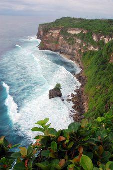Uluwatu Cliff In Bali, Indonesia Royalty Free Stock Images