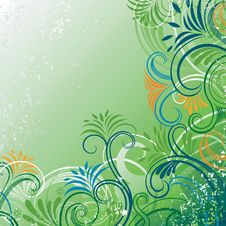 Free Abstract Floral Scroll Royalty Free Stock Photos - 17149238