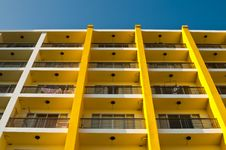Free Yellow And White Building And Blue Sky Stock Photography - 17149642