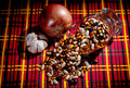 Free Beat, Onions And Garlic On A Table Royalty Free Stock Image - 17157316