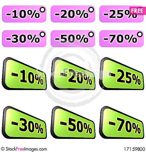 Free Sale Label Sets Stock Photo - 17159800