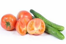 Free Tomatoes And Cucumber Stock Images - 17150164