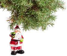 Free Christmas Tree With Santa Claus Stock Photo - 17150220