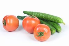 Free Cucumbers And Tomatoes Stock Images - 17150614