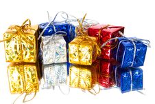 Set Of Colorful Gift Boxes Stock Photography