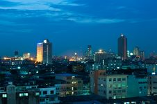 Free Evening View Of Bangkok City Stock Images - 17151074