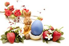 Free Easter Bunny With Strawberries Royalty Free Stock Photos - 17151178