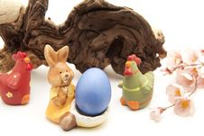 Free Easter Bunny With Egg Stock Photos - 17151293