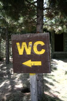 Wc Sign Stock Image