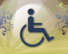 Free Handicap Symbol Of Accessibility,retro Background Stock Photos - 17152643