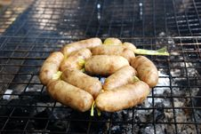 Free Sausage Roasted. Royalty Free Stock Images - 17153129