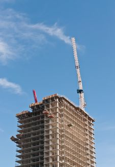 High Rise Building Under Construction Stock Photos