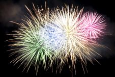 Free Colorful Fireworks At Night Sky Stock Image - 17153901