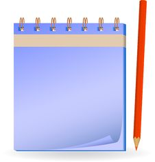 Free Notepad With Pencil. Stock Photo - 17153930