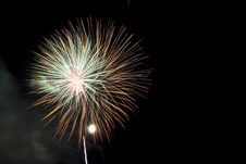 Free Colorful Fireworks At Night Sky Stock Image - 17153991
