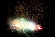 Free Colorful Fireworks At Night Sky Stock Photo - 17154020