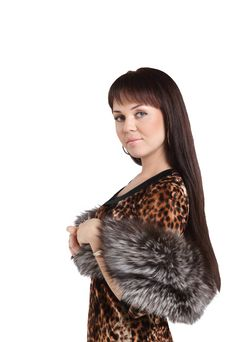 Free Fashion Model Girl In Fur Royalty Free Stock Photos - 17154708