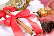 Free Christmas Tableware Stock Photography - 17154742