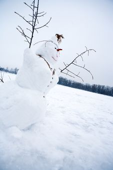 Free Snowman Royalty Free Stock Image - 17154796