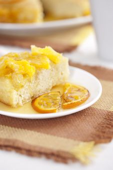 Free Cake With Oranges Royalty Free Stock Image - 17155306