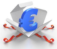 Free Box Of Euros Stock Image - 17155631