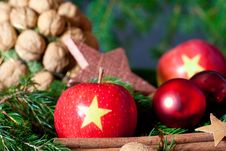 Free Decoration With Apples Stock Photography - 17156062