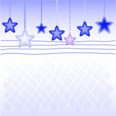 Free Blue Stars Royalty Free Stock Photography - 17156257