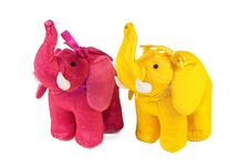 Free Two Toy Elephant Royalty Free Stock Photos - 17156328