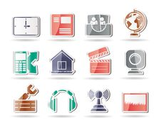Mobile Phone And Computer Icons Royalty Free Stock Image