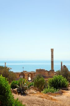Free Ruins Of Antonine Baths In Carthage. Royalty Free Stock Photography - 17157017