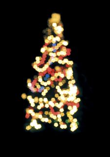 Free Blurred Christmas Tree Lights Stock Photo - 17157030