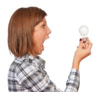 Free Girl With Bulb Stock Image - 17157221