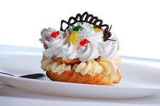 Choux A La Creme Cake Stock Photography