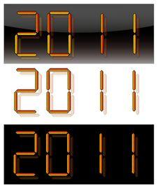 Free 2011 Digits Stock Photo - 17157890