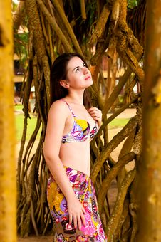 Free A Girl In The Jungle Royalty Free Stock Photography - 17158287