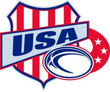 Free American Rugby Ball Shield Usa Stock Photo - 17158590